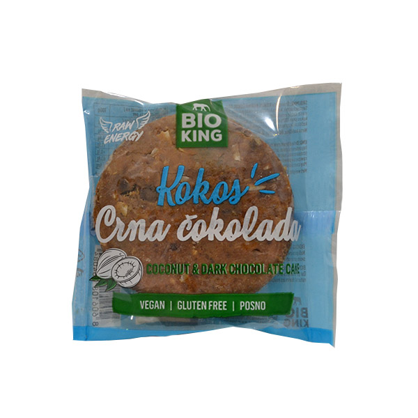 Kokos i crna čokolada cake Bio King 60g