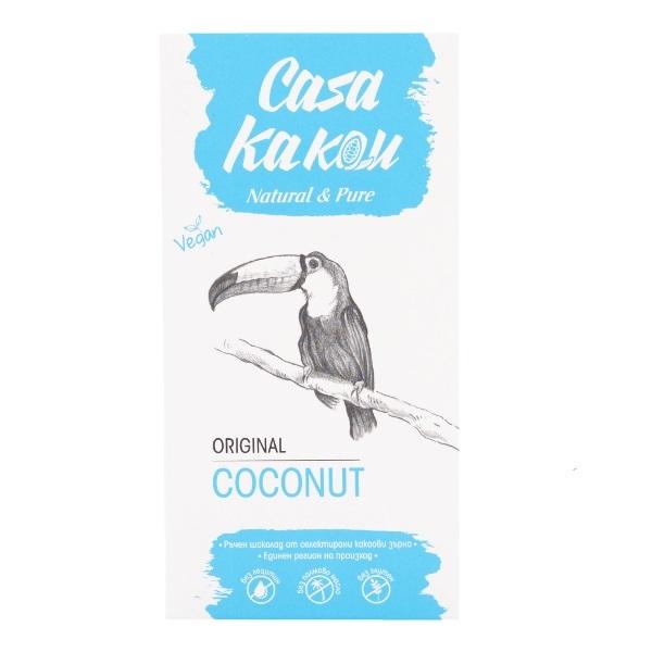 Crna čokolada 51% sa kokosom Casa Kakau 80g