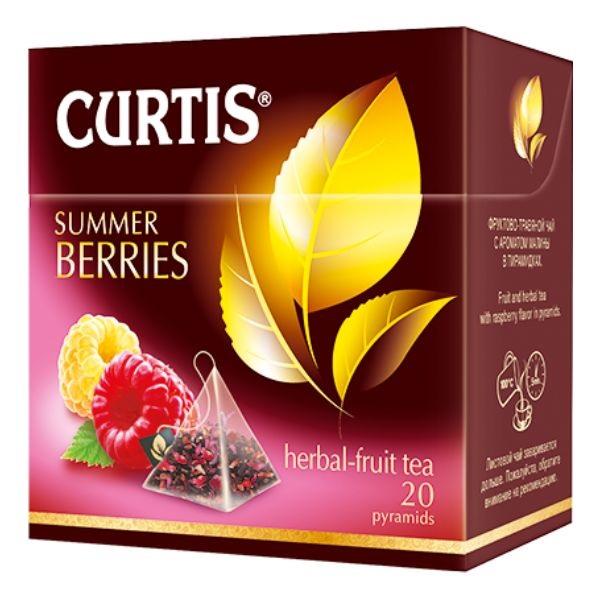 Curtis Summer Berries - biljni čaj sa komadićima voća i aromom maline 20 kesica