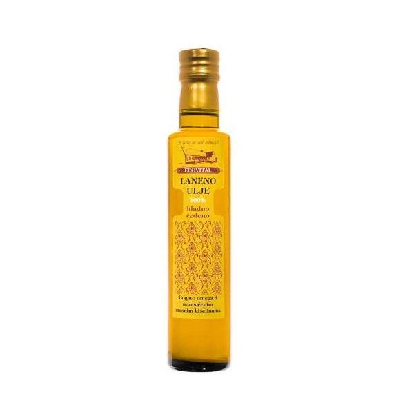 Laneno ulje hladno ceđeno Ecovital 250ml