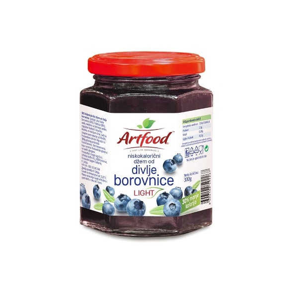 Džem od divljih borovnica light Artfood 300g