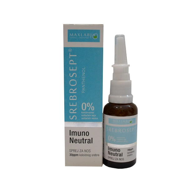 Maxlab Srebrosept imuno neutral sprej za nos 30ml