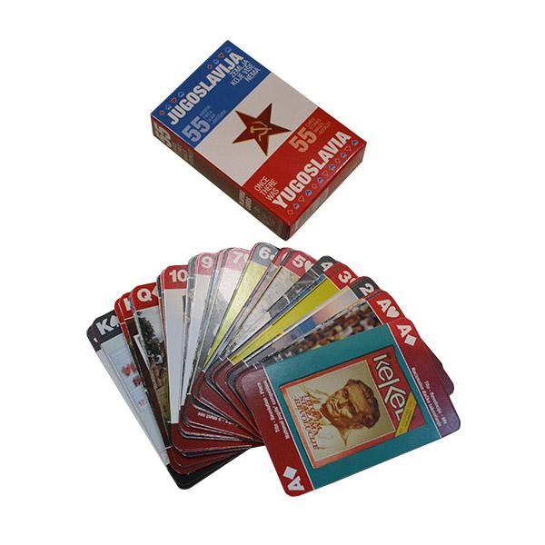 Špil karata za igru Jugoslavija zemlja koje više nema suvenir