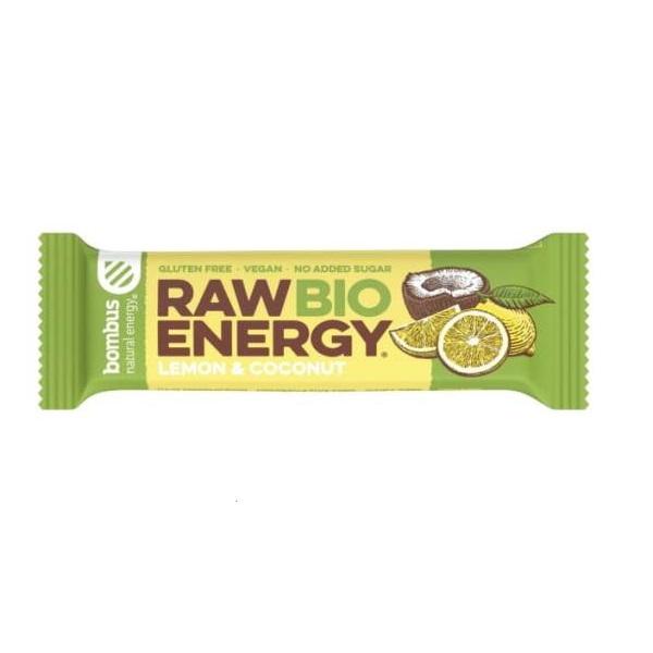 Raw energy štanglica limun i kokos organic Bombus 50g