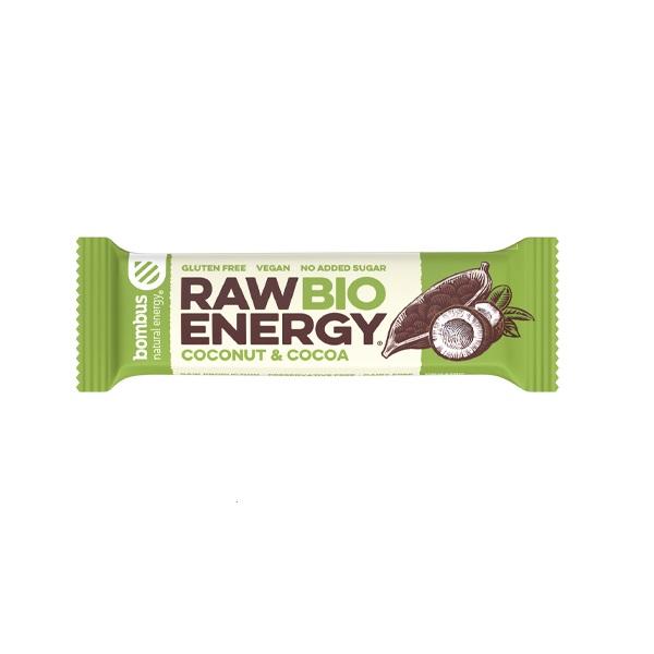 Raw energy štanglica kokos i kakao organic Bombus 50g