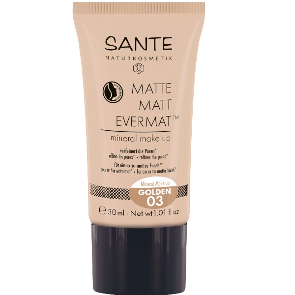 Sante  Minera matt tečni puder 03 Golden 30ml