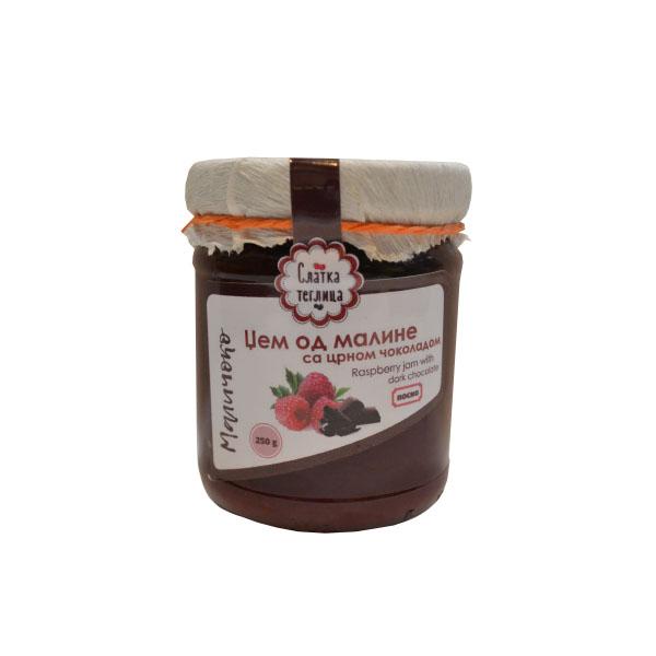 Džem od maline sa crnom čokoladom Slatka teglica 250g
