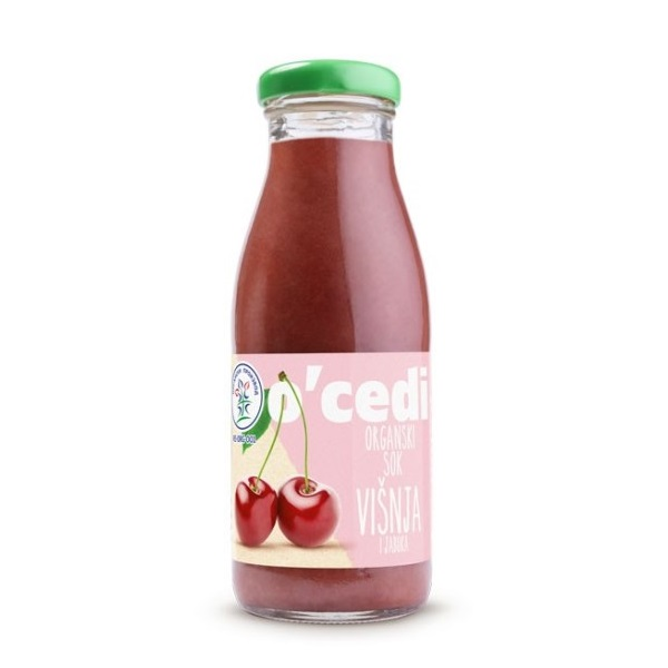 Sok od višnje i jabuke organic O'cedi 250ml