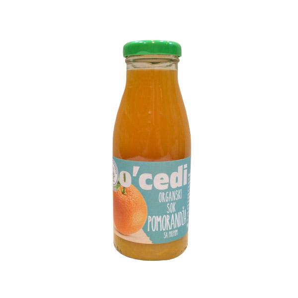 Sok od pomorandže sa pulpom organic O'cedi 250ml