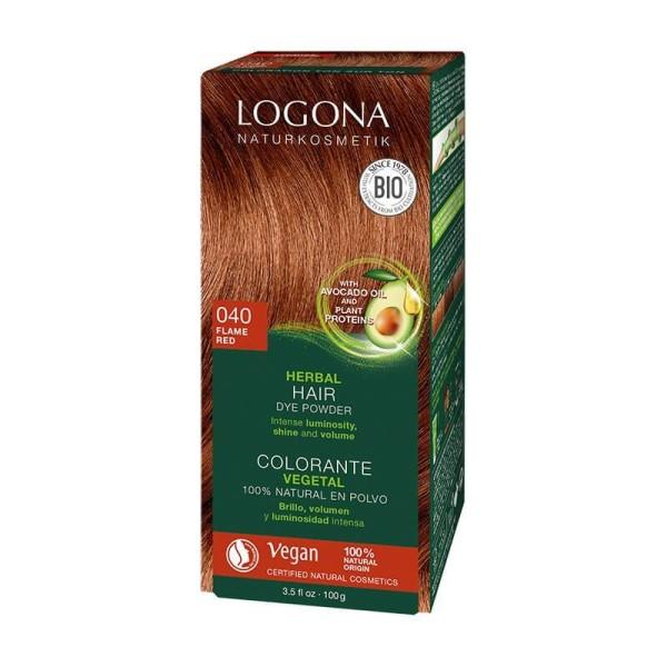 Logona biljna boja za kosu vatreno crvena 100g NOVO