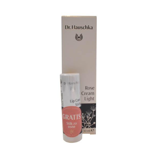 Dr.Hauschka Set Krema ruža light 30ml +GRATIS stik za usne 4,9g