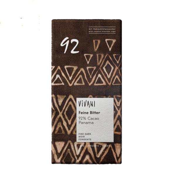 Organska crna čokolada sa 92% kakao delova Vivani 80g