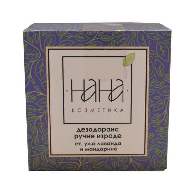 NANA kozmetika Dezodorans ručne izrade u kremi et.ulje lavanda i mandarina 40ml