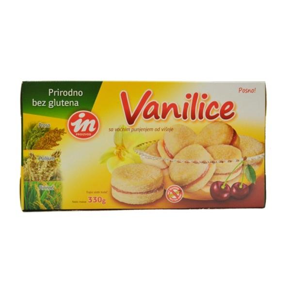 Vanilice sa voćnim punjenjem od višnje bez  glutena In proizvod  330g