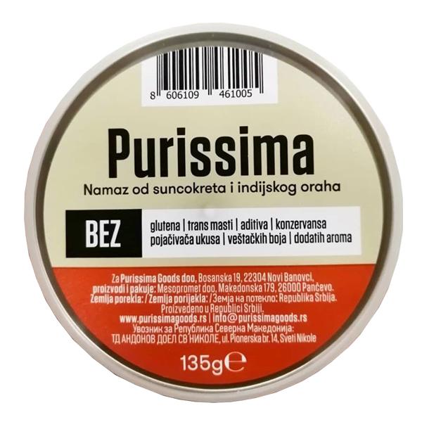 Biljni namaz Purissima od suncokreta i indijskog oraha 135g