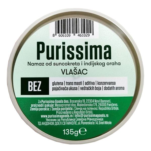 Biljni namaz Purissima od suncokreta i indijskog oraha Vlasac 135g