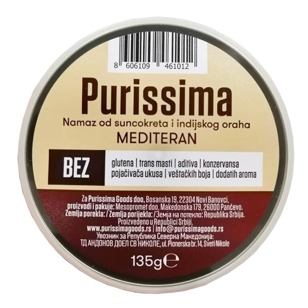 Biljni namaz Purissima od suncokreta i indijskog oraha Mediteran 135g