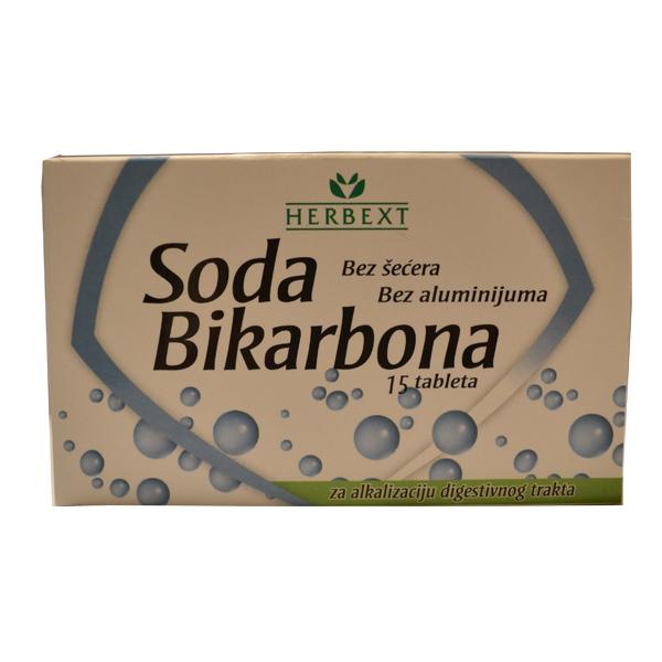 Soda bikarbona u tabletama Herbext 15 komada