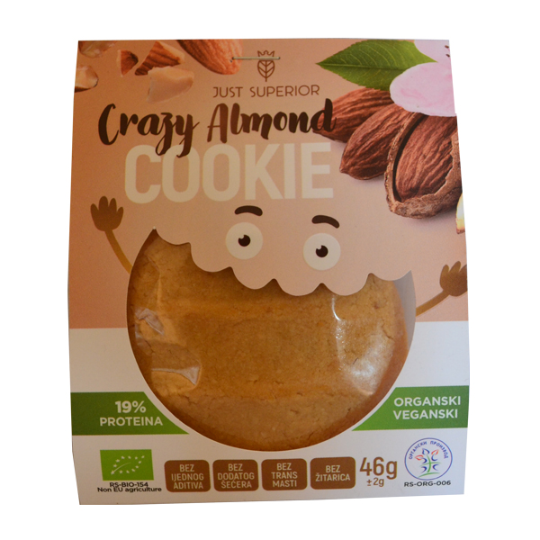 Cookie Crazy Almond - keks od badema organic Just Superior 46g