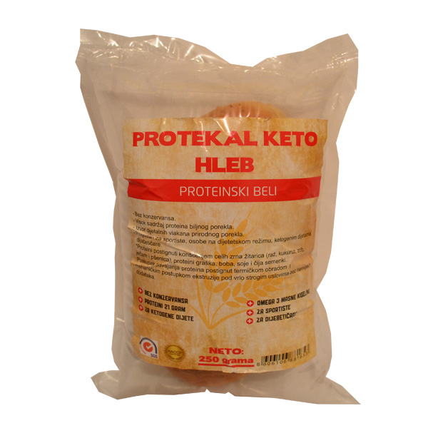 Protekal keto proteinski beli hleb 250g