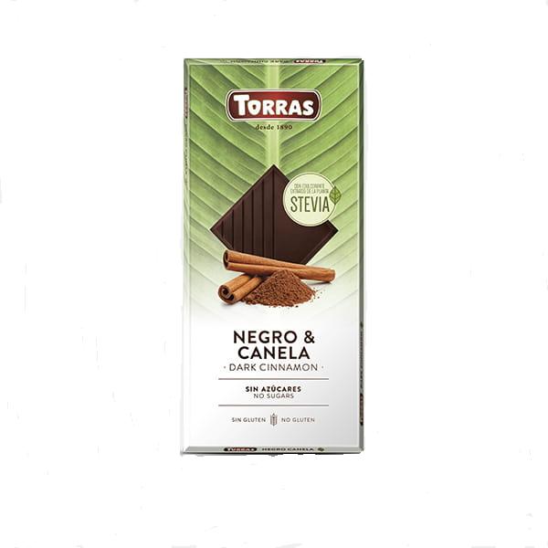 Crna čokolada sa cimetom i steviom Torras 125g