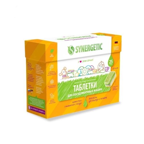 SYNERGETIC bezfosfatne tableteza mašinsko pranje posuđa 25kom