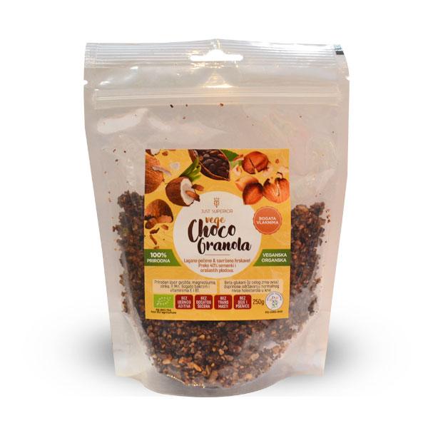 Vege Choco granola Just Superior organic 250g