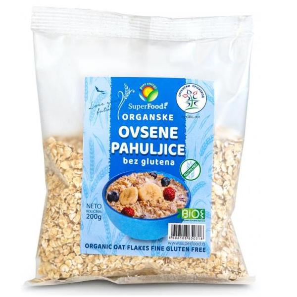Ovsene pahuljice bez glutena organic Superfood 200g