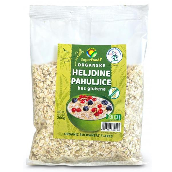 Heljdine pahuljice bez glutena organic Superfood 200g