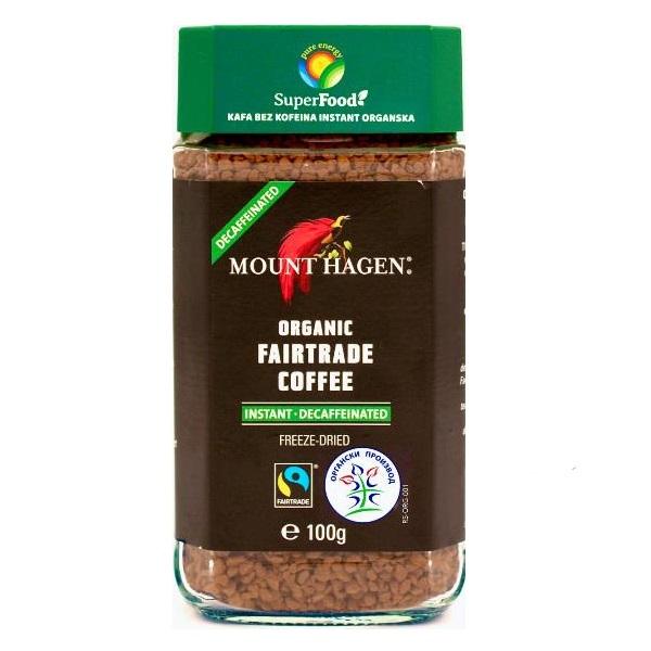 Kafa bez kofeina instant organic 100g
