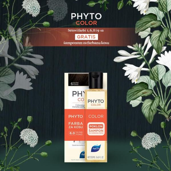 Phytocolor  farba za kosu 6 + Color šampon  250ml