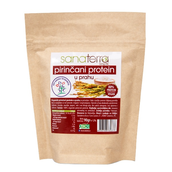 Protein pirinča u prahu organic Sanaterra 90g