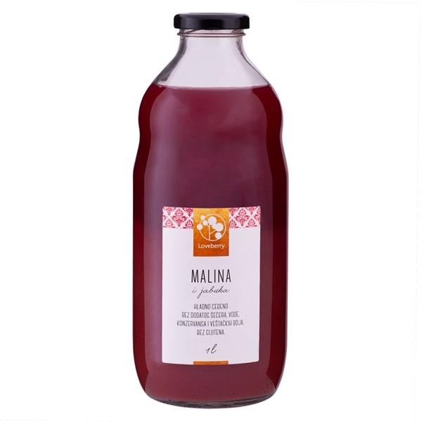 Malina i jabuka sok Loveberry 1l