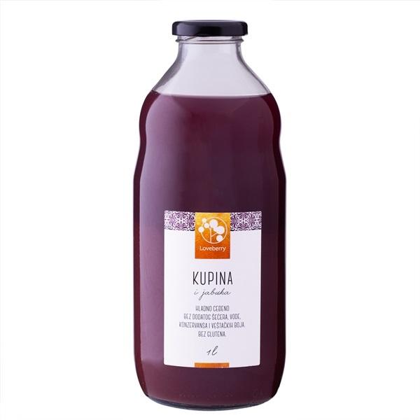 Kupina i jabuka sok Loveberry 1l