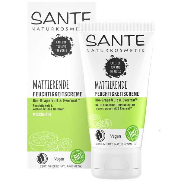 Sante matirajuća krema za lice  Bio grejpfrut i Evermat 50 ml