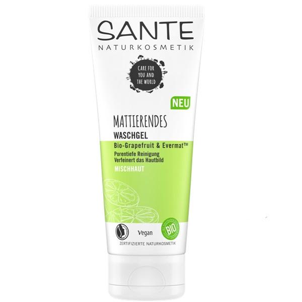 Sante matirajući gel za čišćenje lica Bio grejpfrut i Evermat 100 ml