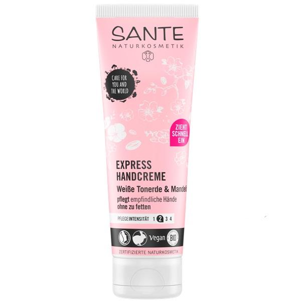 Sante Express krema za ruke Bio bademovo ulje i bela glina 75 ml