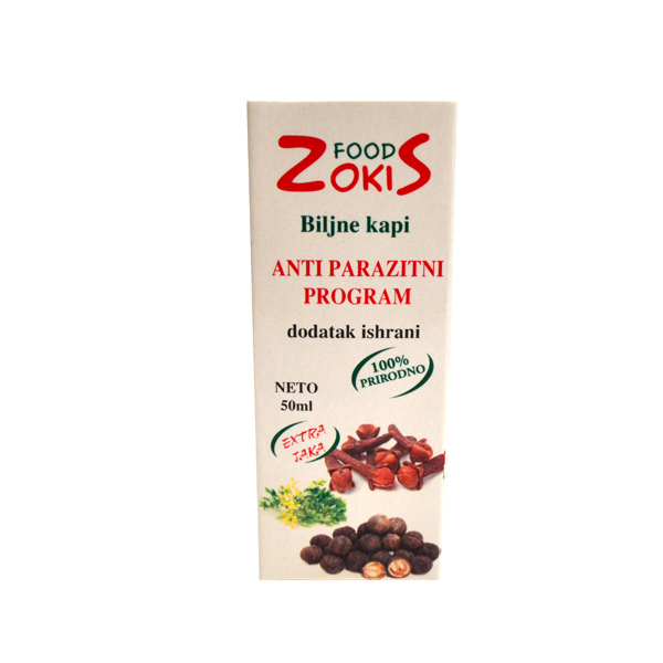 Antiparazitni program biljne kapi 50ml