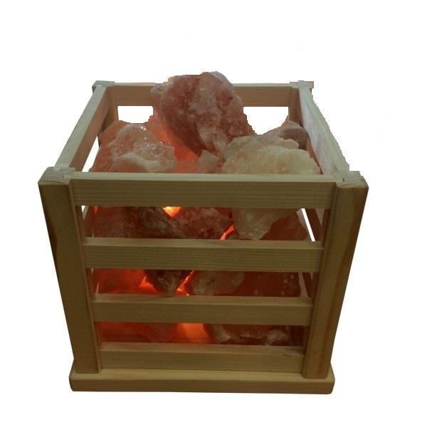 Lampa od himalajske soli Vatrena korpa 3-3,5kg