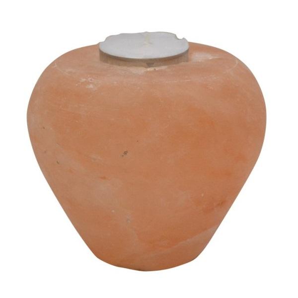 Svećnjak od himalajske soli  u obliku Jabuke