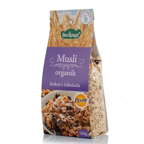 Musli kokos i čokolada organic Bio Špajz 250g