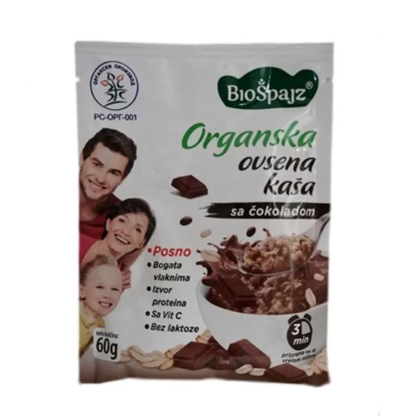Ovsena kaša sa čokoladom  organska 60g Bio Špajz
