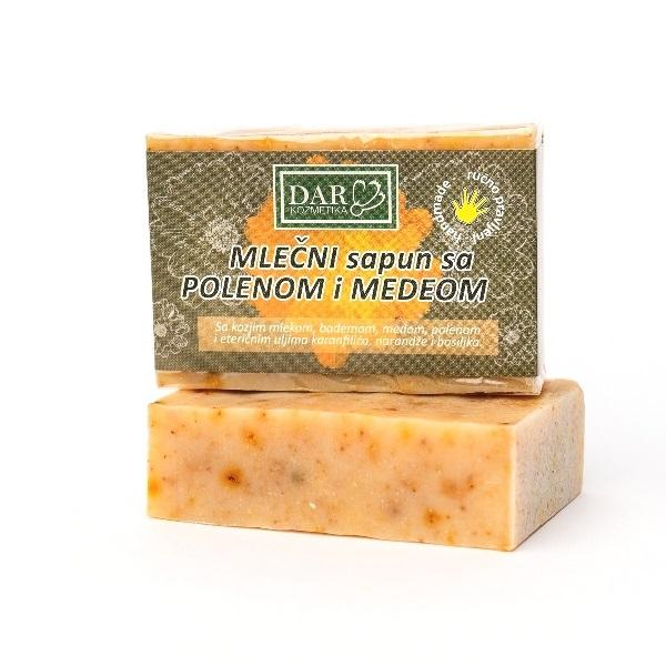 Mlečni Sapun sa polenom i medom 100 g Dar kozmetika