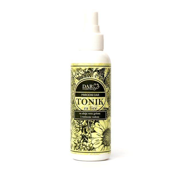 Prirodni  tonik za lice sa aloja vera gelom i ružinom vodom150ml Dar kozmetika