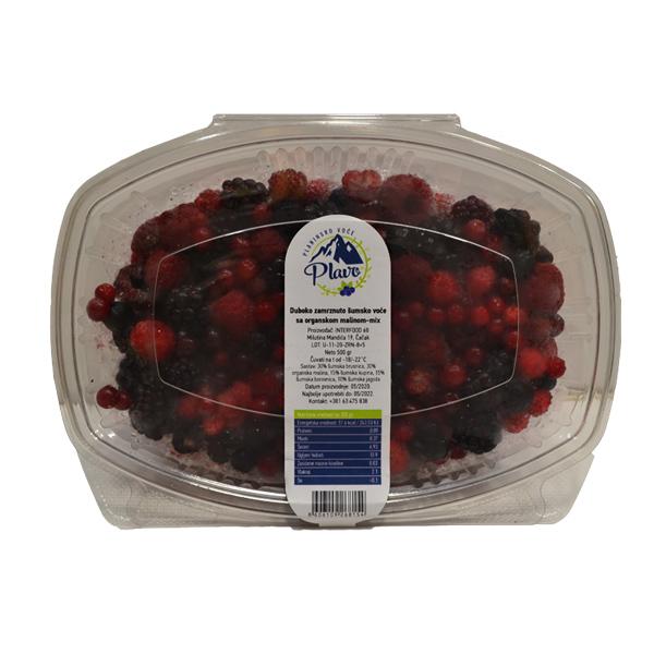 Šumsko voće sa organskom malinom zamurznuto 500g Plavo