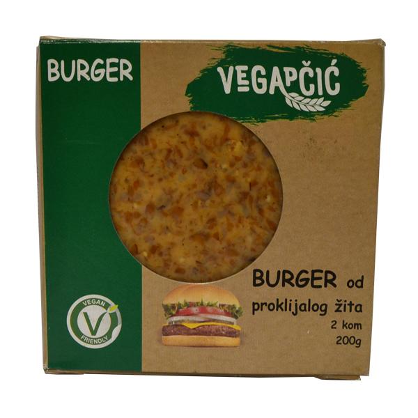 Vegapčić Burger od proklijalog žita 200g - 2 komada