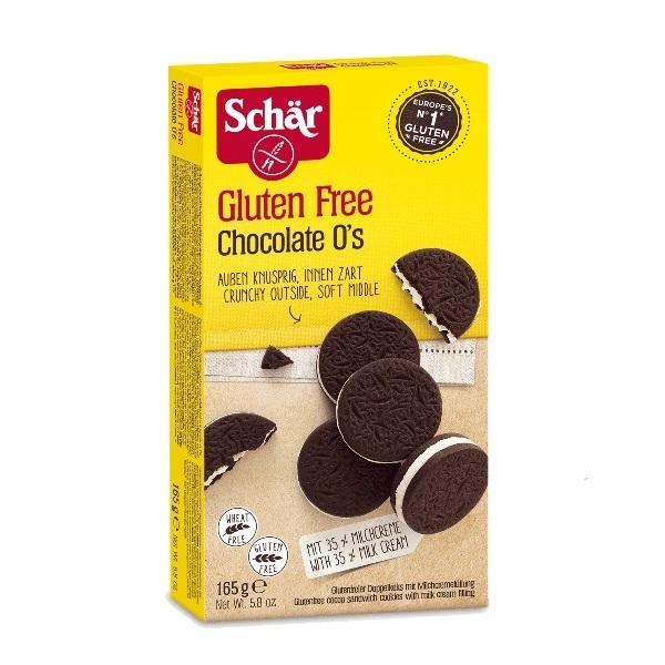 Schar Chocolate o's biskvit sa mlečnim punjenjem bez glutena 165g