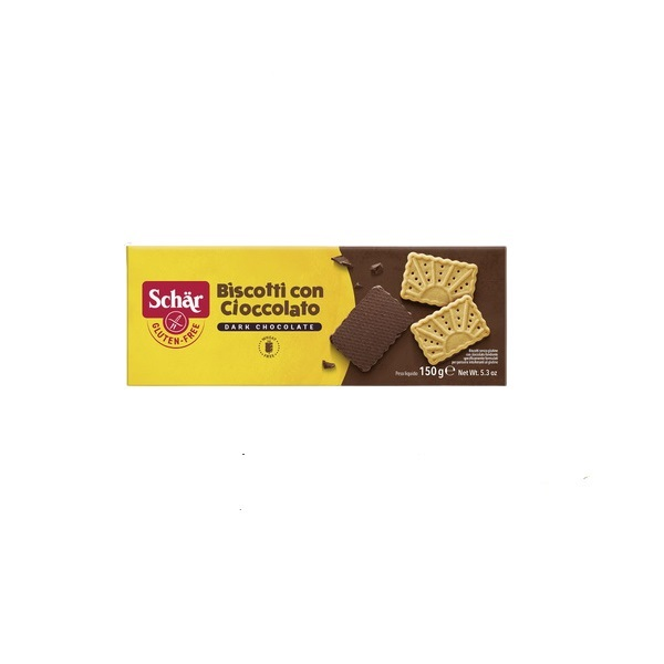 Schar Biscotti  con Cioccolato - Keks preliven čokoladom bez glutena 150g