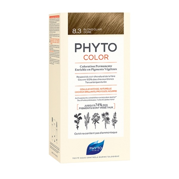 Phytocolor farba za kosu 8.3- light golden blonde
