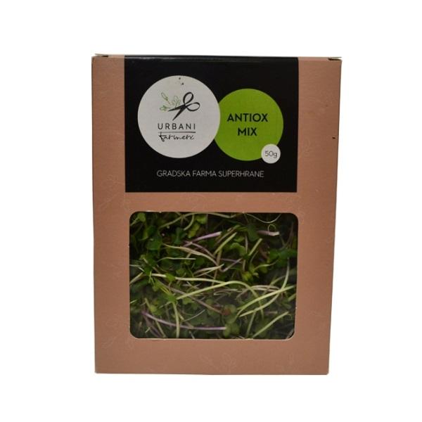 Antiox mix - mikrobilje brokoli rotkvica rukola Urbani Farmeri 50g